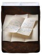 Vintage Letter Duvet Cover