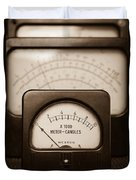 Vintage Light Meter Duvet Cover by Edward Fielding