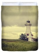 Vintage Lighthouse Pei Duvet Cover