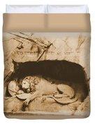 Vintage Lion Of Lucerne Duvet Cover
