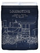 Vintage Locomotive Patent From 1892 Duvet Cover