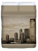 Vintage Manhattan Skyline Duvet Cover
