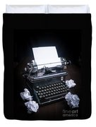 Vintage Manual Typewriter Duvet Cover