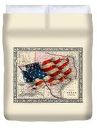 Vintage Map Of Texas 2 Duvet Cover