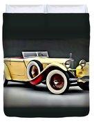 Vintage Mercedes Convertible Duvet Cover