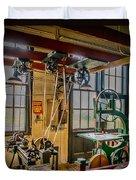 Vintage Michigan Machine Shop Duvet Cover