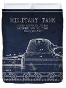 Vintage Military Tank Patent From 1945 Duvet Cover