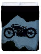 Vintage Motorcycle Duvet Cover