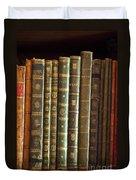 Vintage Music Books On A Shelf Duvet Cover