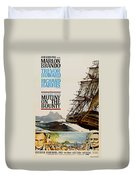 Vintage Mutiny On The Bounty Movie Poster 1962 Duvet Cover