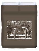 Vintage Oil Rig Santa Rita No. 1 Duvet Cover