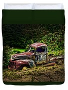 Vintage Old Forty's Pickup Duvet Cover