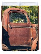 Vintage Old Rusty Truck Duvet Cover