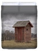 Vintage Outhouse Behind A Historical Country School In Southwest Michigan Duvet Cover