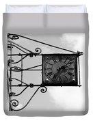 Vintage Paris Clock 2 Duvet Cover