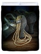 Vintage Pearls And Shoes Duvet Cover
