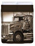 Vintage Peterbilt Truck Duvet Cover