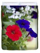Vintage Petunia Flowers Duvet Cover