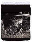 Vintage Photo Of Rural Mail Carrier - 1914 Duvet Cover