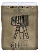 Vintage Photographic Camera Patent Duvet Cover