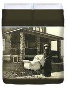 Vintage Photos Duvet Cover