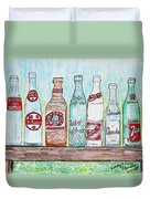 Vintage Pop Bottles Duvet Cover