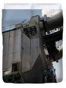 Vintage Power Plant  Part View Industrial Photography Duvet Cover