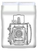 Vintage Press Camera Patent Drawing Duvet Cover