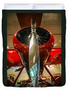 Vintage Propeller Airplane Duvet Cover