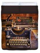 Vintage Remington Typewriter  Duvet Cover
