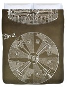 Vintage Roulette Wheel Patent Duvet Cover