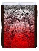 Vintage Ruby Portrait Duvet Cover