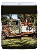 Vintage Rusty Old Truck 1940 Duvet Cover