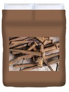 Vintage Rusty Square Nails Duvet Cover