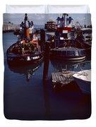 Vintage San Francisco Waterfront Duvet Cover