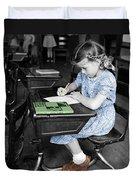 Vintage Schoolgirl Duvet Cover