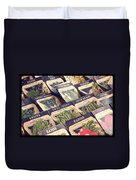 Vintage Seed Packages Duvet Cover by Edward Fielding