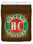 Vintage Sinclair Gasoline Sign Duvet Cover