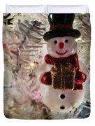 Vintage Snowman Duvet Cover