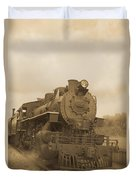 Vintage Steam Locomotive Duvet Cover