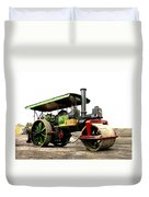 Vintage Steam Roller Duvet Cover