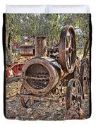 Vintage Steam Tractor Duvet Cover by Douglas Barnard