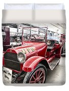 Vintage Studebaker Fire Engine Duvet Cover
