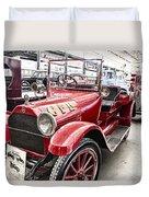 Vintage Studebaker Fire Engine Duvet Cover by Douglas Barnard