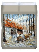 Vintage Sugar Shack By Prankearts Duvet Cover