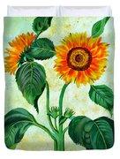Vintage Sunflowers Duvet Cover