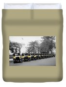 Vintage Taxis 3 Duvet Cover