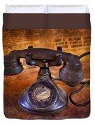 Vintage Telephone  Duvet Cover