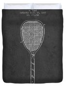 Vintage Tennnis Racket Patent Drawing From 1887-dark Duvet Cover
