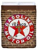 Vintage Texaco Gasoline Sign Dsc07195 Duvet Cover